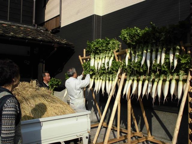 11月3日文化の日に越後村上の食文化、干し大根づくりを